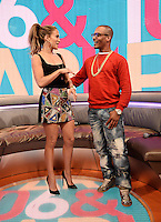 NEW YORK, NY - JUNE 18: Recording artist Jennifer Lopez visits 106 & Park at BET studio on June 18, 2014 in New York City © HP/Starlitepics