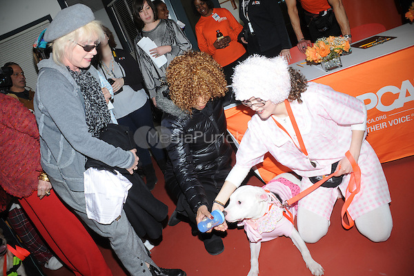 Debbie Harry and Roberta Flack at the 6th annual Prevention of Cruelty to Animals' talent competition at ASPCA Headquarters in New York City. February 11, 2011. Credit: Dennis Van Tine/MediaPunch