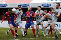 Sam Ling of Dagenham goes close with a header during Dagenham & Redbridge vs Hartlepool United, Vanarama National League Football at the Chigwell Construction Stadium on 6th January 2018