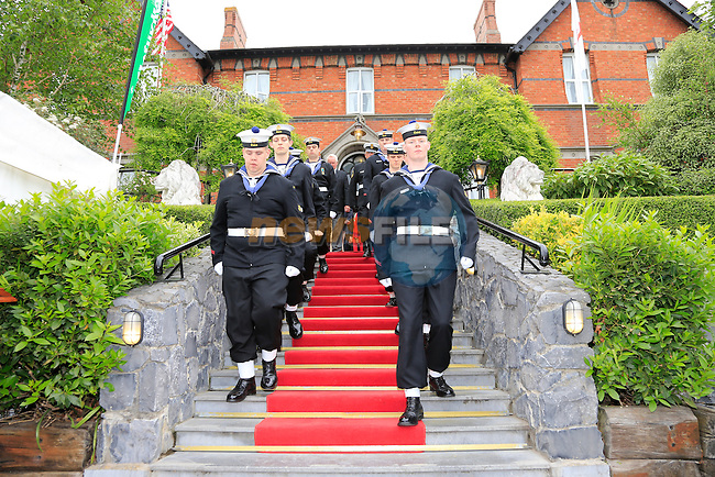 Unveiling of the John Philip Memorial in Scolars town house.<br /> Picture:  www.newsfile.ie