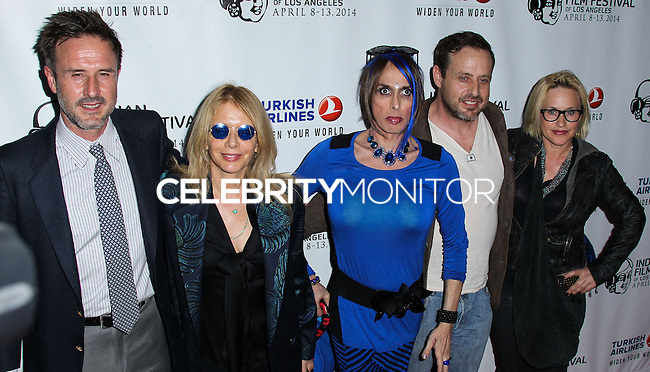 "HOLLYWOOD, LOS ANGELES, CA, USA - APRIL 08: David Arquette, Rosanna Arquette, Alexis Arquette, Richmond Arquette, Patricia Arquette at the Indian Film Festival Of Los Angeles 2014 - Opening Night Screening Of ""Sold"" held at ArcLight Cinemas on April 8, 2014 in Hollywood, Los Angeles, California, United States. (Photo by Xavier Collin/Celebrity Monitor)"