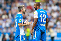 Deportivo de la Coruna's Luisinho Correia (l) and Sidnei Rechel da Silva during La Liga match. September 10,2017.  *** Local Caption *** © pixathlon<br /> Contact: +49-40-22 63 02 60 , info@pixathlon.de