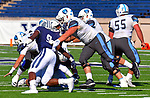 "November 2nd, 2019:  Osorachukwu Ifesinachukwu from Yale [9] assists on a ""sack"" as the Bulldogs up their record to 6-1 defeating the Columbia Lions 45-10 in Ivy League football.  The game was held at the Yale Bowl in New Haven, Connecticut. Heary/Eclipse Sportswire/CSM"