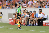 Houston, TX - Sunday June 19, 2016: Deleana Quan during a regular season National Women's Soccer League (NWSL) match between the Houston Dash and FC Kansas City at BBVA Compass Stadium.