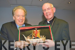 Bishop Bill Murphy presents Cardinal Brady a sculpture of .St Brendan's vovage to signifie his visit to Kerry in the Malton Hotel on Tuesday