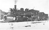 3/4 left side view of K-28 #475 with plow and snow.<br /> D&amp;RGW  Chama ?, NM