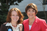 NDP Leader Carol James with Nelson-Creston MLA Michelle Mungall.