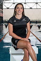 Georgia Marris. Swimming New Zealand Gold Coast Commonweath Games Team Announcement, Owen G Glenn National Aquatic Centre, Auckland, New Zealand,Friday 22 December 2017. Photo: Simon Watts/www.bwmedia.co.nz