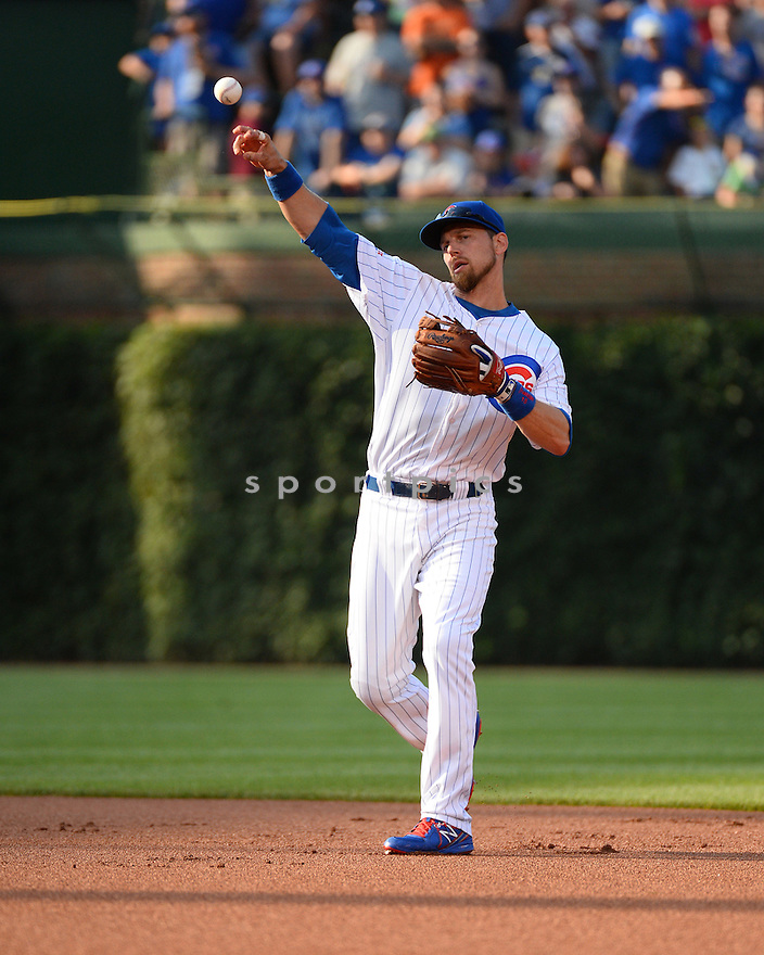 Chicago Cubs Ben Zobrist (18) during a game against the New York Mets on July 19, 2016 at Wrigley Field in Chicago, IL. The Mets beat the Cubs 2-1.