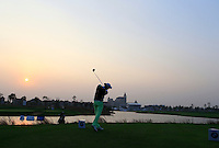 Marcel Siem (GER) tees off the the 18th tee for a playoff during Sunday's Final Round of the 2014 BMW Masters held at Lake Malaren, Shanghai, China. 2nd November 2014.<br /> Picture: Eoin Clarke www.golffile.ie