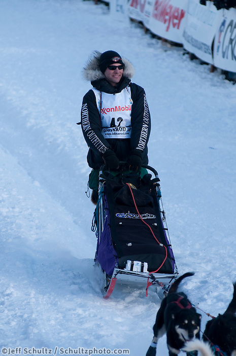 2010 Iditarod Re-start in Willow Alaska musher # 42 SVEN HALTMANN.