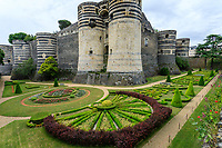 France, Maine-et-Loire (49), Angers, château d'Angers, broderies dans les douves