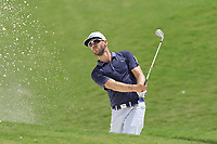 Graham Delaet (CAN) chips from a bunker at the 1st green during Saturday's Round 3 of the 2017 PGA Championship held at Quail Hollow Golf Club, Charlotte, North Carolina, USA. 12th August 2017.<br /> Picture: Eoin Clarke | Golffile<br /> <br /> <br /> All photos usage must carry mandatory copyright credit (&copy; Golffile | Eoin Clarke)