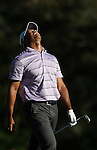 AUGUSTA, GA - APRIL 10:  Tiger Woods reacts after hitting onto the green during the 2010 Masters Tournament held in Augusta, Georgia at Augusta National Golf Club on April 10, 2010. (Photo by Donald Miralle)..