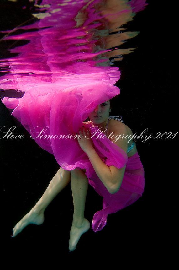 Jeannie Patrie underwater.St John, Virgin Islands