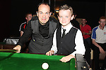 Fergal O'Brien with Eoin O'Boyle at the Snooker Exhibition with Fergal O'Brien in aid of SOSAD in The Star and Crescent Snooker Club...Photo NEWSFILE/Jenny Matthews.(Photo credit should read Jenny Matthews/NEWSFILE)....This Picture has been sent you under the condtions enclosed by:.Newsfile Ltd..The Studio,.Millmount Abbey,.Drogheda,.Co Meath..Ireland..Tel: +353(0)41-9871240.Fax: +353(0)41-9871260.GSM: +353(0)86-2500958.email: pictures@newsfile.ie.www.newsfile.ie.FTP: 193.120.102.198.