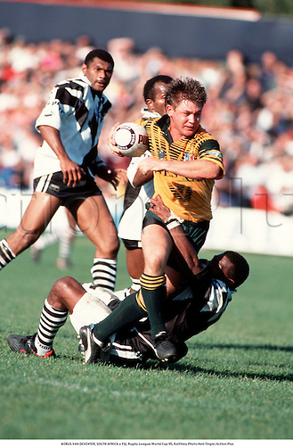 KOBUS VAN DEVENTER, SOUTH AFRICA v Fiji, Rugby League World Cup 95, Keithley Photo:Neil Tingle/Action Plus...1995.Rugby League..