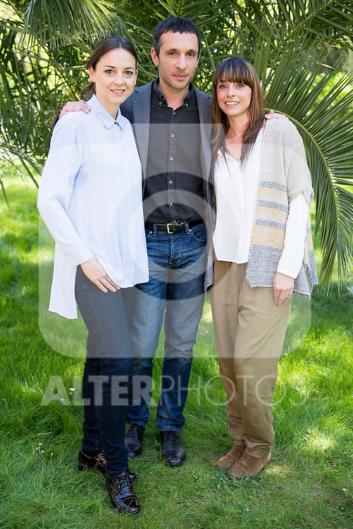 "Leonor Watling (L), Pablo Derqui (C) and Ingrid Rubio (R) during the presentation of ""Pulsaciones"" the new prime time serie of Antena 3 tv in Madrid. May 03, 2016. (ALTERPHOTOS/Borja B.Hojas)"