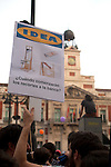 Protesters participate at an indignados demonstration in Madrid. 12 May 2012..(Alterphotos/Alconada)