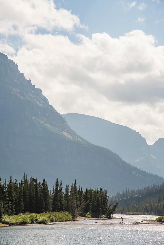 Two Medicine area of Glacier National Park Montana.