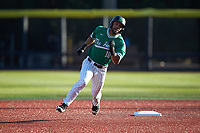 Erik Rodriguez (18) of the Marshall Thundering Herd legs out a triple during the game against the Charlotte 49ers at Hayes Stadium on March 22, 2019 in Charlotte, North Carolina. The Thundering Herd defeated the 49ers 12-6. (Brian Westerholt/Four Seam Images)