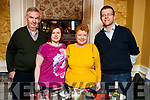 Thomas Cooper, Maria Flynn, Sheila Cooper, Michael Flynn, Ballymac, Tralee, pictured on a night out in the Brogue Inn, Tralee, on Saturday night last.