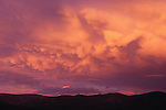 Billowing clouds at sunset near Missoula, Montana