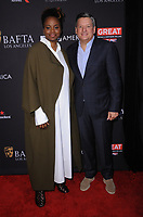 06 January 2018 - Beverly Hills, California - Dee Rees, Ted Sarandos. 2018 BAFTA Tea Party held at The Four Seasons Los Angeles at Beverly Hills in Beverly Hills.    <br /> CAP/ADM/BT<br /> &copy;BT/ADM/Capital Pictures