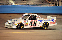 Nov. 13, 2009; Avondale, AZ, USA; NASCAR Camping World Truck Series driver Dan Brode during the Lucas Oil 150 at Phoenix International Raceway. Mandatory Credit: Mark J. Rebilas-