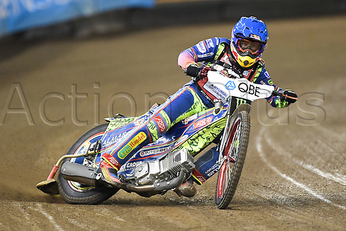 27th October 2017, Etihad Stadium, Melbourne, Australia; QBE Insurance Australian FIM Speedway Grand Prix, Practice Session; Piotr Pawlicki of Poland rides during practice