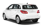 Car pictures of rear three quarter view of a 2014 Mercedes Benz B-Class Electric Drive 5 Door MPV Angular Rear