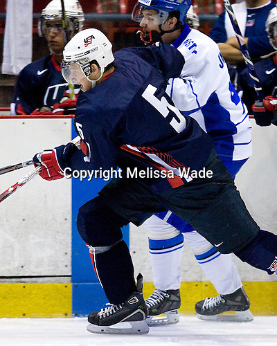 Blake Geoffrion (US/UWisconsin - Brentwood, TN), Jan-Mikael Juutilainen (Finland/Waterloo Blackhawks - Finland) - US Team Blue defeated Team Finland 5-4 in the early game at the 1980 Rink in Lake Placid, New York, during the Summer Hockey Challenge on Tuesday, August 7, 2007.