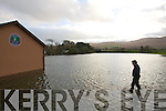 PJ Hayes gets an Overview of the flooding at Saint Pat's Gaa club in Blennerville on Monday.