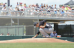 Masahiro Tanaka (Yankees),<br /> MARCH 31, 2015 - MLB :<br /> Masahiro Tanaka of the New York Yankees touches the pitcher's plate before delivering the first pitch in the first inning during a spring training baseball game against the Minnesota Twins at CenturyLink Sports Complex in Fort Myers, Florida, United States. (Photo by AFLO)