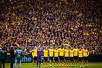 11.05.2019, Signal Iduna Park, Dortmund, GER, 1.FBL, Borussia Dortmund vs Fortuna Düsseldorf, DFL REGULATIONS PROHIBIT ANY USE OF PHOTOGRAPHS AS IMAGE SEQUENCES AND/OR QUASI-VIDEO<br /> <br /> im Bild | picture shows:<br /> Schweigeminute fuer den verstorbenen Lothar Geissler, <br /> <br /> Foto © nordphoto / Rauch