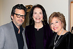 "LOS ANGELES - JAN 9: Ben Mankiewicz, Sherry Lansing, Kate Johnson at The Actors Fund's ""In The Spotlight"" Living Room Salon Series launch with special guest Sherry Lansing at a private estate on January 9, 2018 in Beverly Hills, CA"