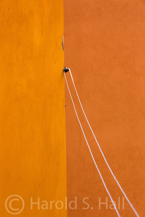 This bright abstract design was found in the incredibly complex scenes of Rome.  I did not have to search and search for these, they jumped out at me upon first viewing them.  This was our clothesline in our rented apartment, accessed through a narrow bathroom window, six floors up.