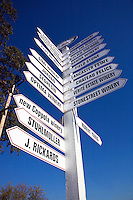 Crossroads signage in wine country - HEALDSBURG, CALIFORINA