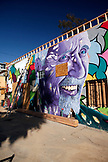 USA, Los Angeles, wall mural on the side of a building on Abbot Kinney Boulevard