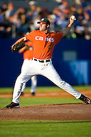 May 30, 2009:  NCAA Division 1 Gainesville Regional:     Miami starting pitcher Chris Hernandez (27) during 2nd round regional action at Alfred A. McKethan Stadium on the campus of University of Florida in Gainesville. Host University of Florida Gators defeated Miami Hurricanes  8-2 to advance in the Winners bracket.............