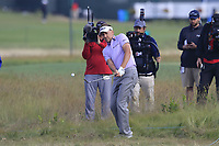 Ian Poulter (ENG) duffs his chip from the rough at the 8th green during Friday's Round 2 of the 118th U.S. Open Championship 2018, held at Shinnecock Hills Club, Southampton, New Jersey, USA. 15th June 2018.<br /> Picture: Eoin Clarke | Golffile<br /> <br /> <br /> All photos usage must carry mandatory copyright credit (&copy; Golffile | Eoin Clarke)