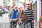 Christmas shopping in Cahersiveen on Friday last were l-r; Ritchie MacCarthy, Millie McCrohan & Donnacadh Lynch.