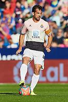 27th October 2019; Estadi Cuitat de Valencia, Valencia, Spain; La Liga Football, Levante versus Espanyol;  Victor Sanchez of RC Espanyol brings the ball forward - Editorial Use