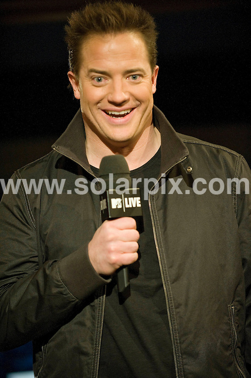 "**ALL ROUND PICTURES FROM SOLARPIX.COM**.**SYNDICATION RIGHTS FOR UK, AUSTRALIA, DENMARK, PORTUGAL, S. AFRICA, SPAIN & DUBAI (U.A.E) ONLY**.The Canadian American actor Brendan Fraser Visits MTV Canada ""MTV Live"" on January 13, 2009 at The Masonic Temple in Toronto, Canada...JOB REF:8234-PHZ/wong    DATE:13-01-09 .**MUST CREDIT SOLARPIX.COM OR DOUBLE FEE WILL BE CHARGED* *UNDER NO CIRCUMSTANCES IS THIS IMAGE TO BE REPRODUCED FOR ANY ONLINE EDITION WITHOUT PRIOR PERMISSION*"