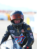 Feb 26, 2017; Chandler, AZ, USA; NHRA top fuel nitro Harley Davidson rider Bob Malloy during the Arizona Nationals at Wild Horse Pass Motorsports Park. Mandatory Credit: Mark J. Rebilas-USA TODAY Sports
