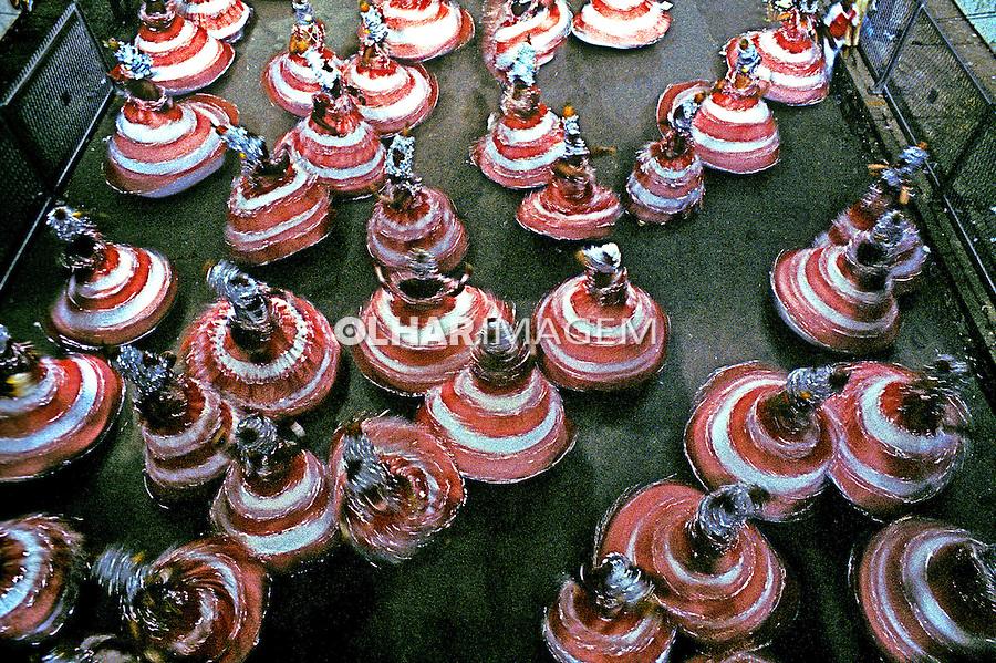 Desfile de carnaval da Unidos de Bangú, Rio de Janeiro. 1983. Foto de Juca Martins.