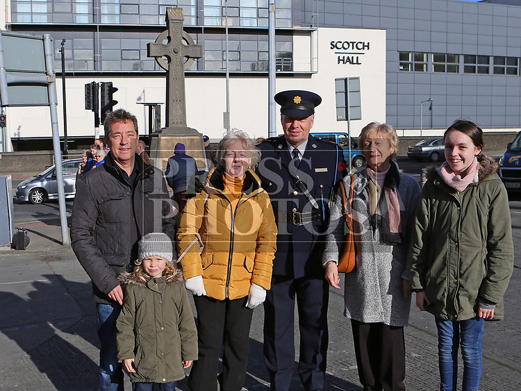 Frank, Ciara and Aoife Gogarty with Frances Watters, Garda Superintendent Andrews Watters and Marie Kelly at the annual Drogheda Remembrance Day ceremony at Mary Street.<br /> <br /> <br /> photo - Jenny Matthews