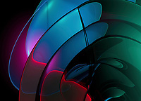 Curved glowing abstract pattern