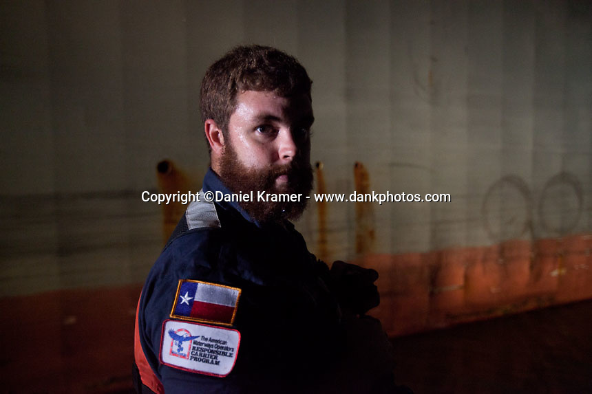Portrait of Buffalo Marine tankerman Terry Curow on Friday, Nov. 11, 2016.  Curow, 27, has been a tankerman for 2.5 years.