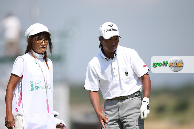 Kohki Idoki (JPN) during Round Two of the 2014 Senior Open Championship presented by Rolex from Royal Porthcawl Golf Club, Porthcawl, Wales. Picture:  David Lloyd / www.golffile.ie